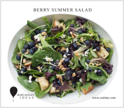 berry summer salad birthday soirtay